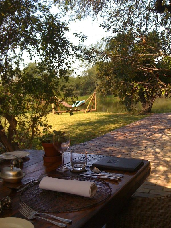 View from the dining deck at Camp Jabulani